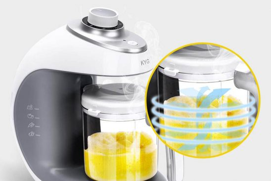 KYG Robot de cocina al vapor para bebé (300 ml) 2 modelos disponibles