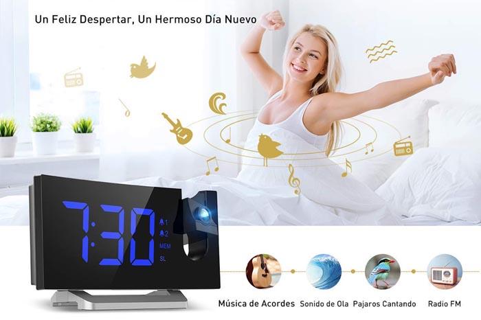 comprar reloj despertador mpow con radio fm y proyector de hora. Análisis del producto, caracteristicas y precio