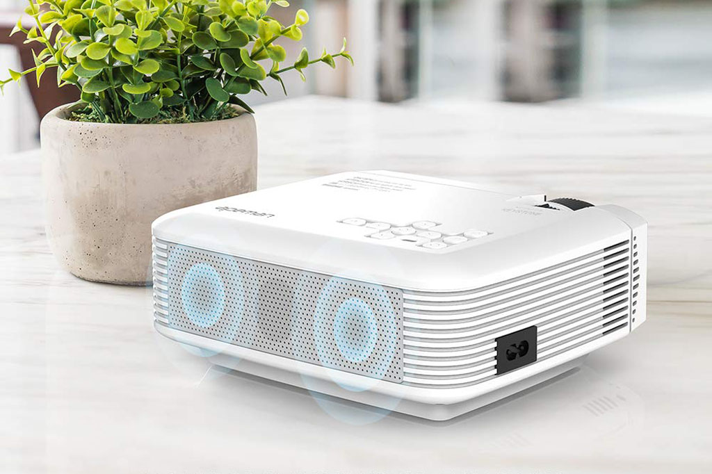 Proyector APEMAN LC350 Mini portátil 1080p LED 3800 lúmenes img3 sonido comprar