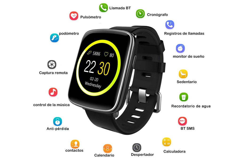 Reloj inteligente Willful SW018 con pantalla de 1.54 pulgadas comprar en amazon al mejor precio analisis review