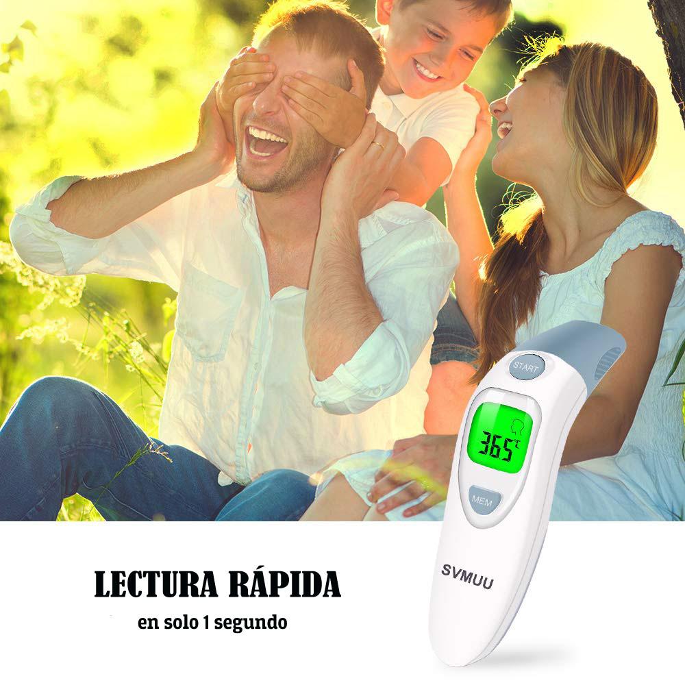 termometro digital frente y oido svmuu 4 en 1 para bebes análisis review precio comprar