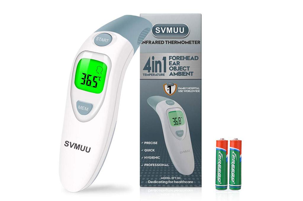 Termómetro digital frente y oído SVMUU 4 en 1 para bebés y adultos