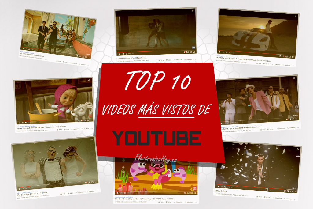 Los 10 videos más vistos de YouTube
