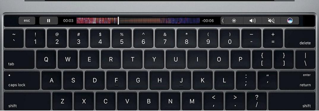 touch bar macbook 2019