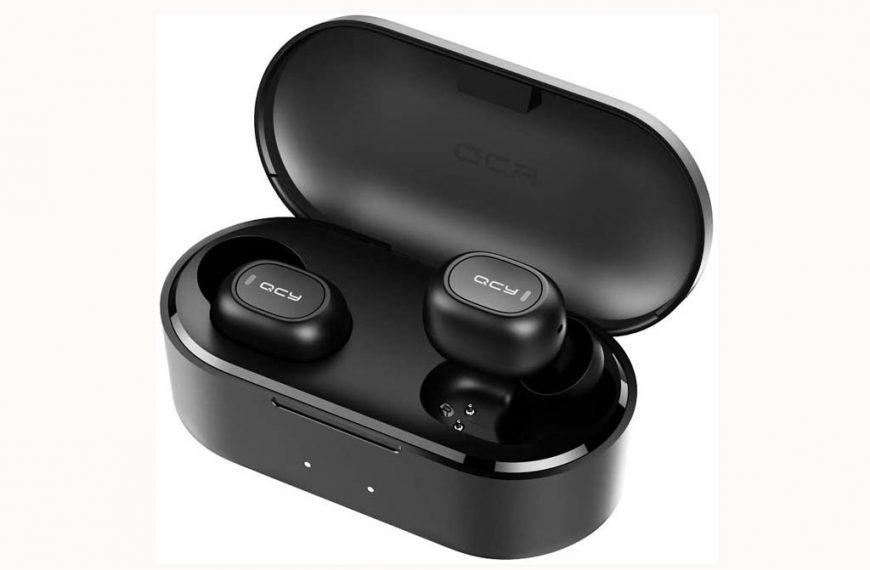 Homscam QCY Auriculares in-Ear con caja de carga