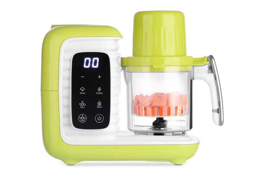 Zanmini Robot de cocina al vapor para bebé: procesador de alimentos 6 en 1