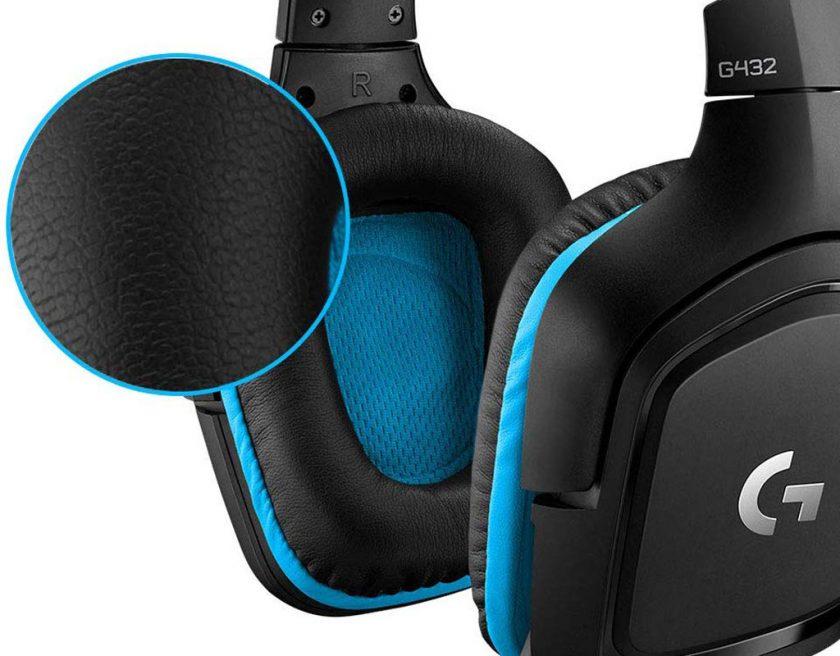 auriculares gaming logitech g432 con transductores grandes de piel no producen sudor ni hacen daño al cabo de unas horas de juego