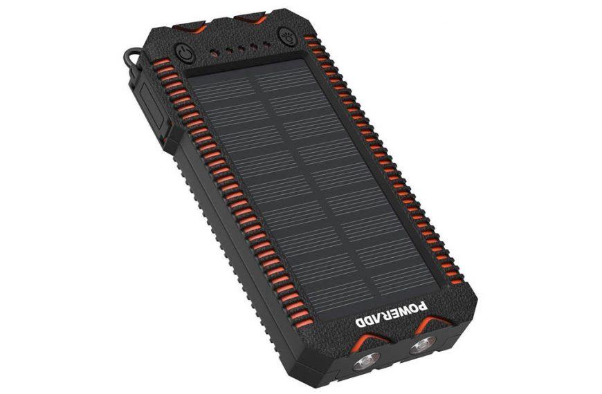 POWERADD Cargador Solar Portátil con batería (2 modelos: 12000 y 26800mAh)