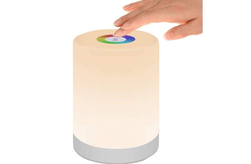 Pofo Lámpara portátil de colores RGB con batería recargable