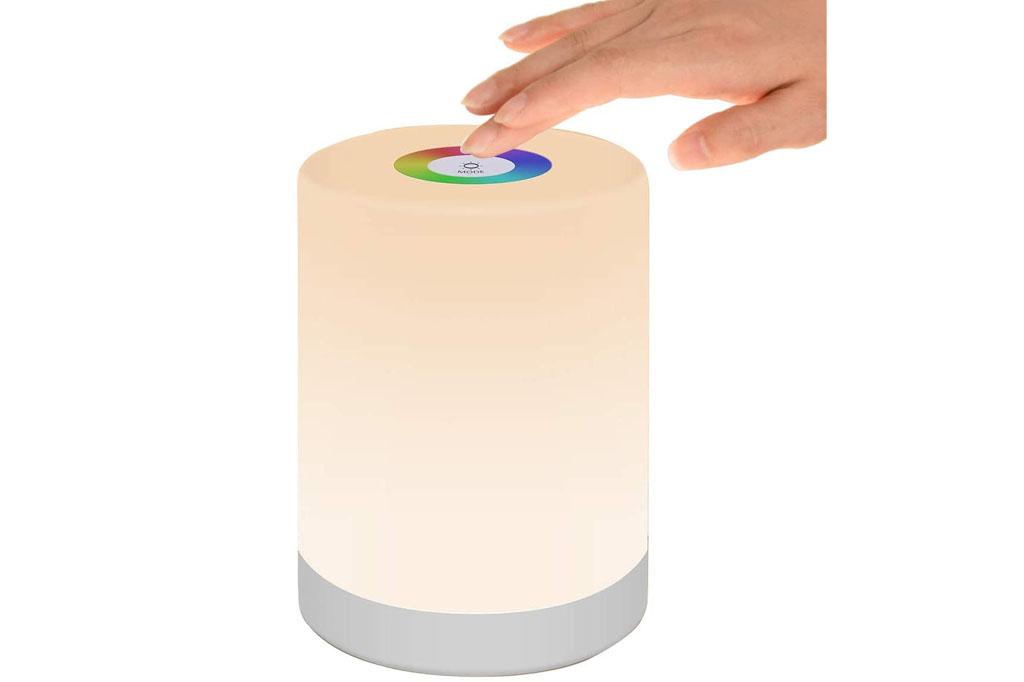 Pofo Lámpara portátil de colores RGB con batería recargable y 3 niveles de brillo
