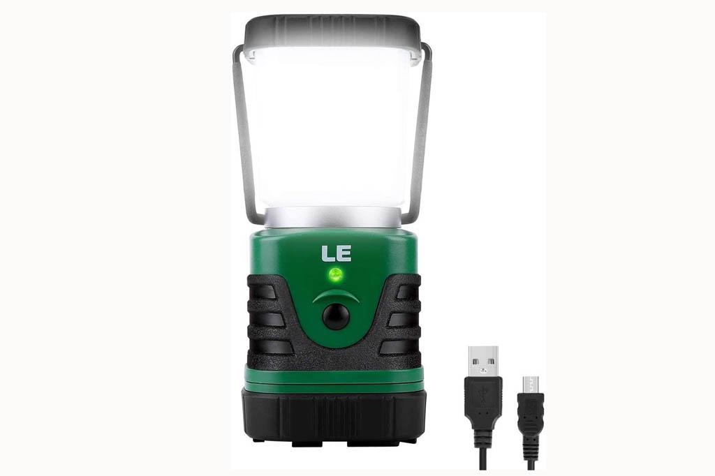 LE Linterna Camping 1000 lm con batería recargable y 4 modos regulables